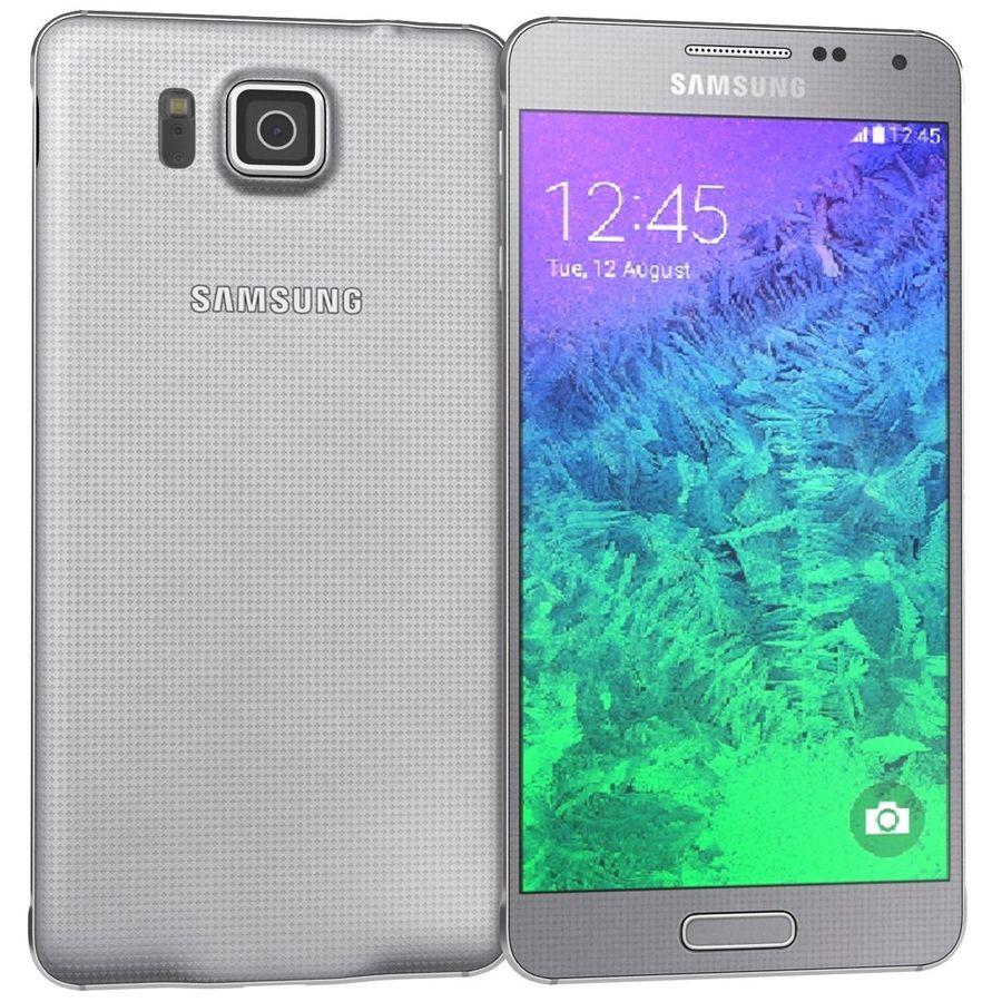 Samsung Galaxy Alpha elegante prata royalty-free 3d model - Preview no. 3