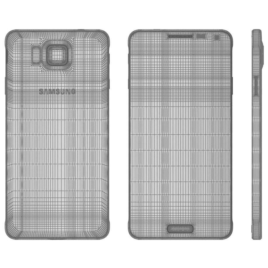 Samsung Galaxy Alpha elegante prata royalty-free 3d model - Preview no. 26