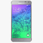 Samsung Galaxy Alpha Sleek Silver modelo 3d