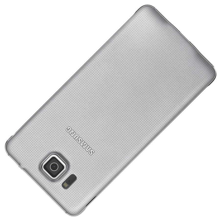 Samsung Galaxy Alpha elegante prata royalty-free 3d model - Preview no. 22