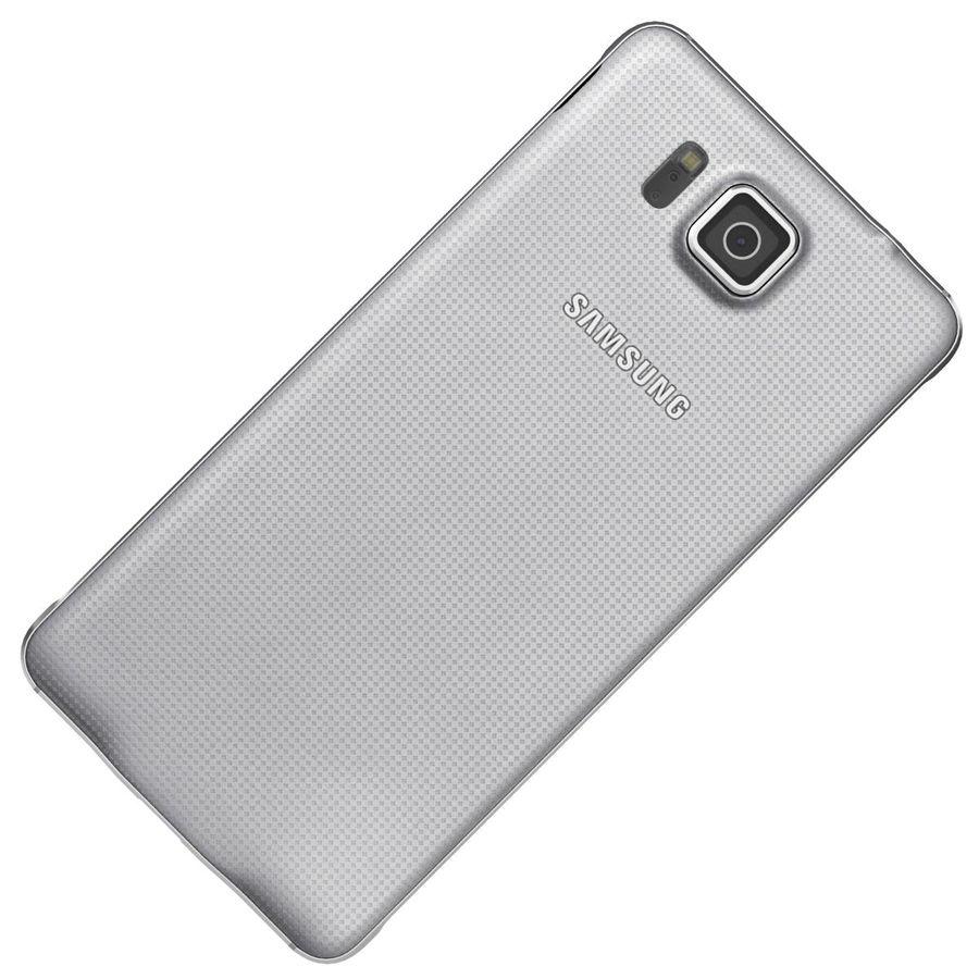 Samsung Galaxy Alpha elegante prata royalty-free 3d model - Preview no. 20