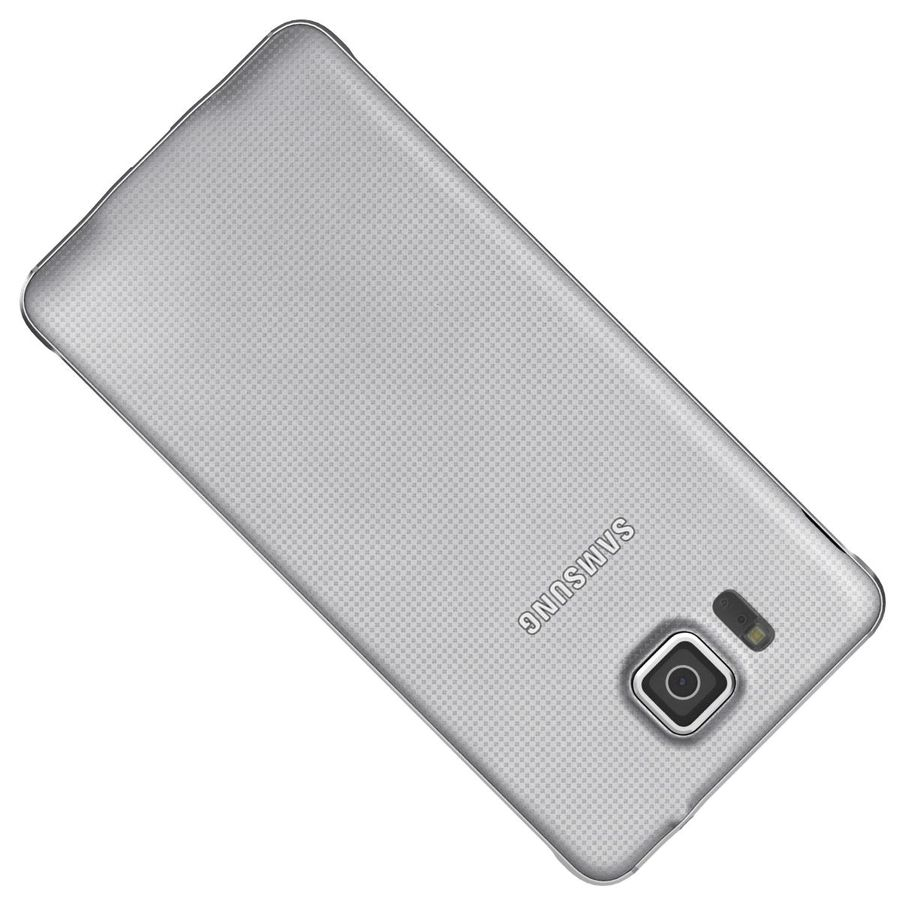 Samsung Galaxy Alpha elegante prata royalty-free 3d model - Preview no. 21