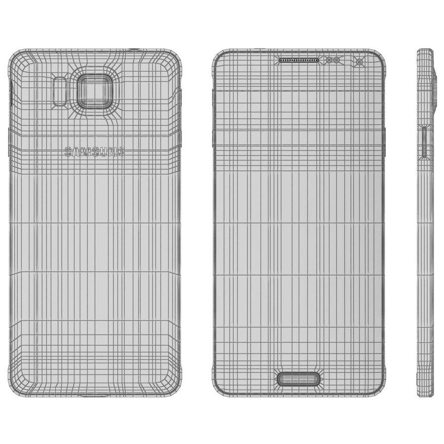 Samsung Galaxy Alpha elegante prata royalty-free 3d model - Preview no. 24