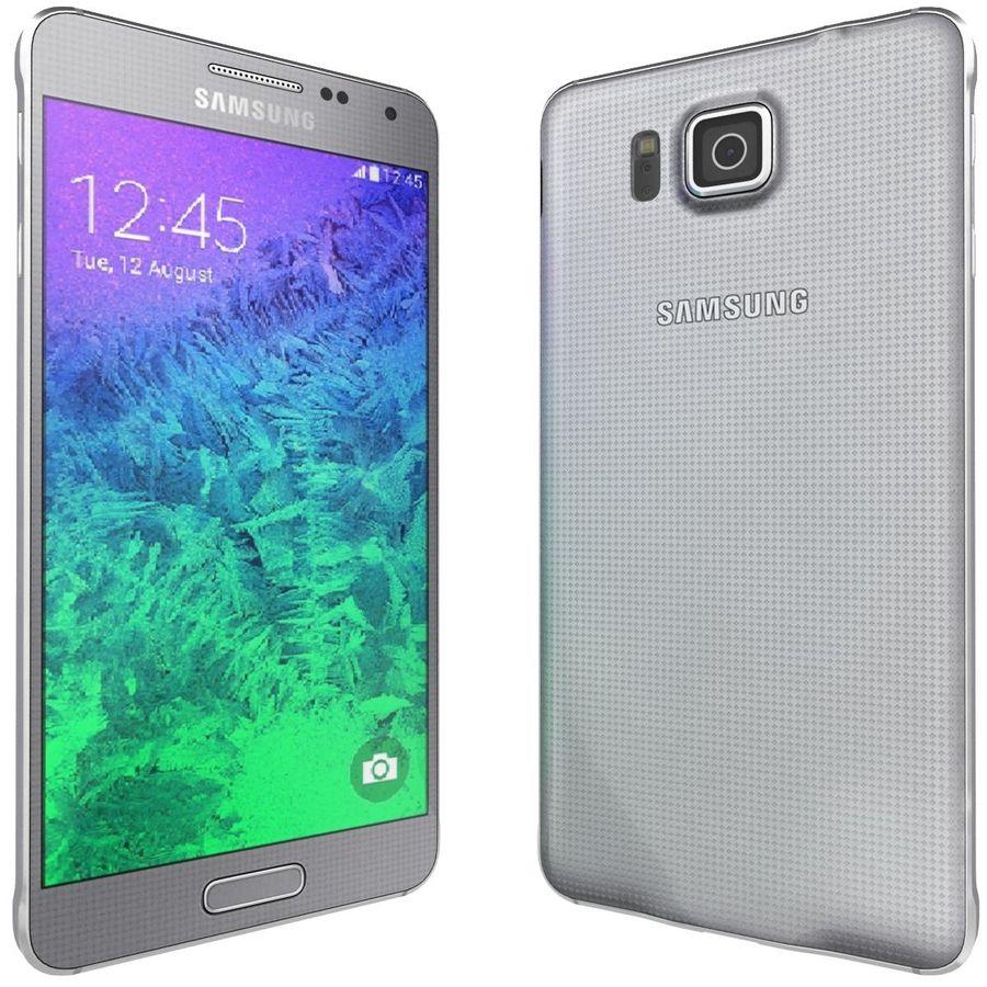 Samsung Galaxy Alpha elegante prata royalty-free 3d model - Preview no. 5