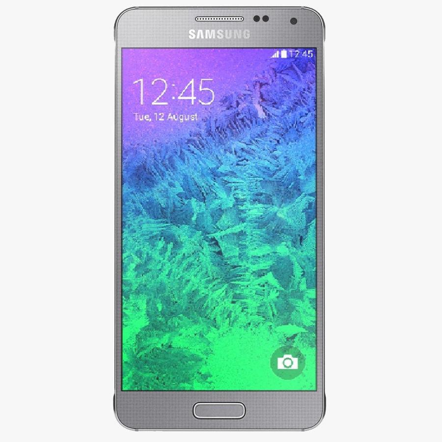 Samsung Galaxy Alpha elegante prata royalty-free 3d model - Preview no. 1