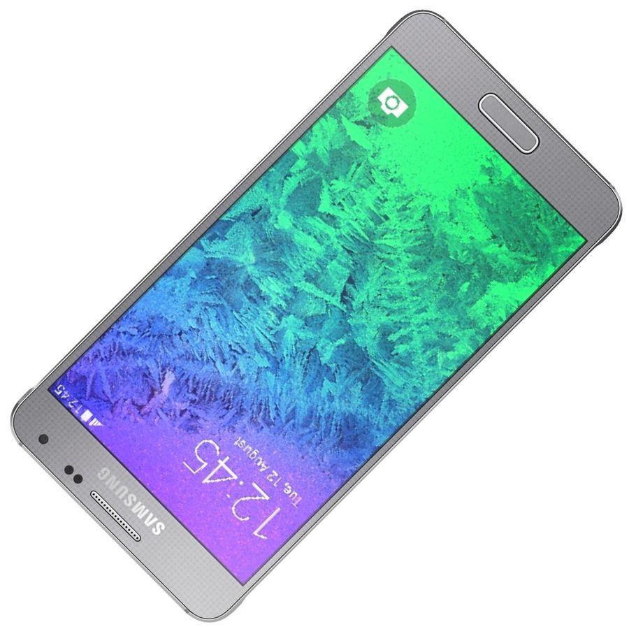 Samsung Galaxy Alpha elegante prata royalty-free 3d model - Preview no. 18