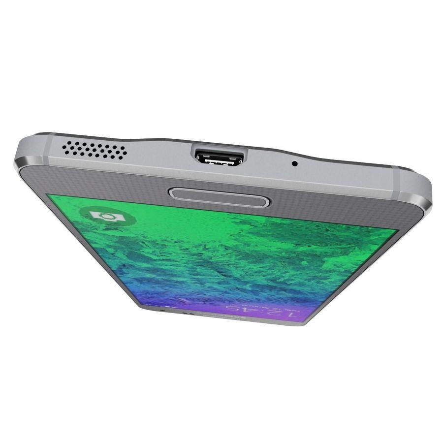 Samsung Galaxy Alpha elegante prata royalty-free 3d model - Preview no. 14