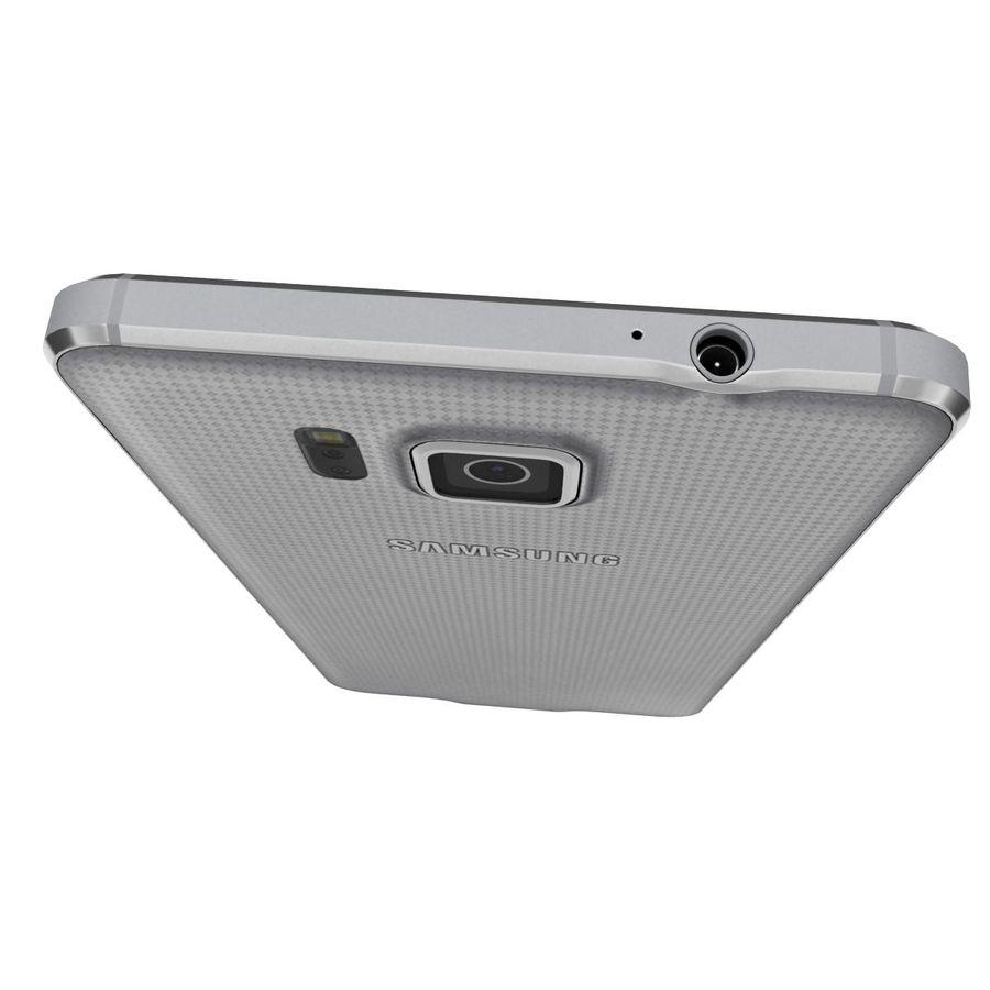 Samsung Galaxy Alpha elegante prata royalty-free 3d model - Preview no. 13