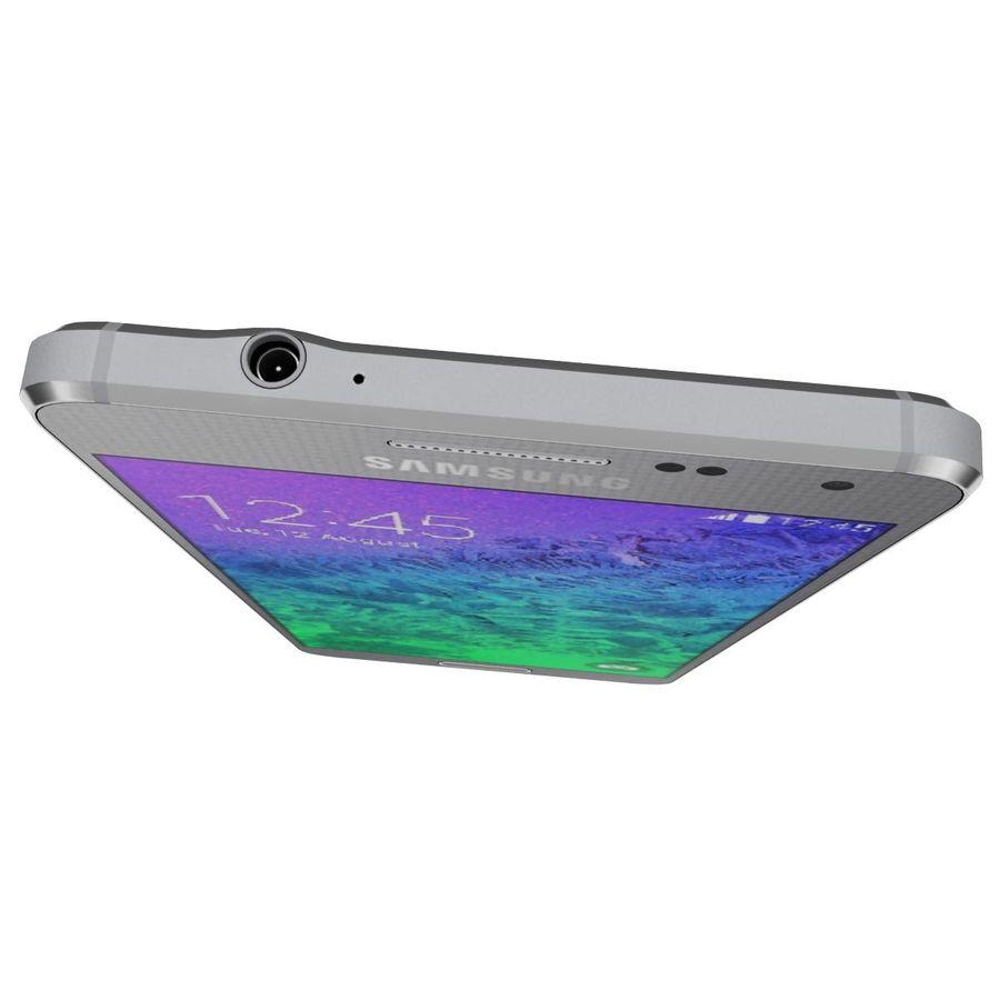 Samsung Galaxy Alpha elegante prata royalty-free 3d model - Preview no. 12