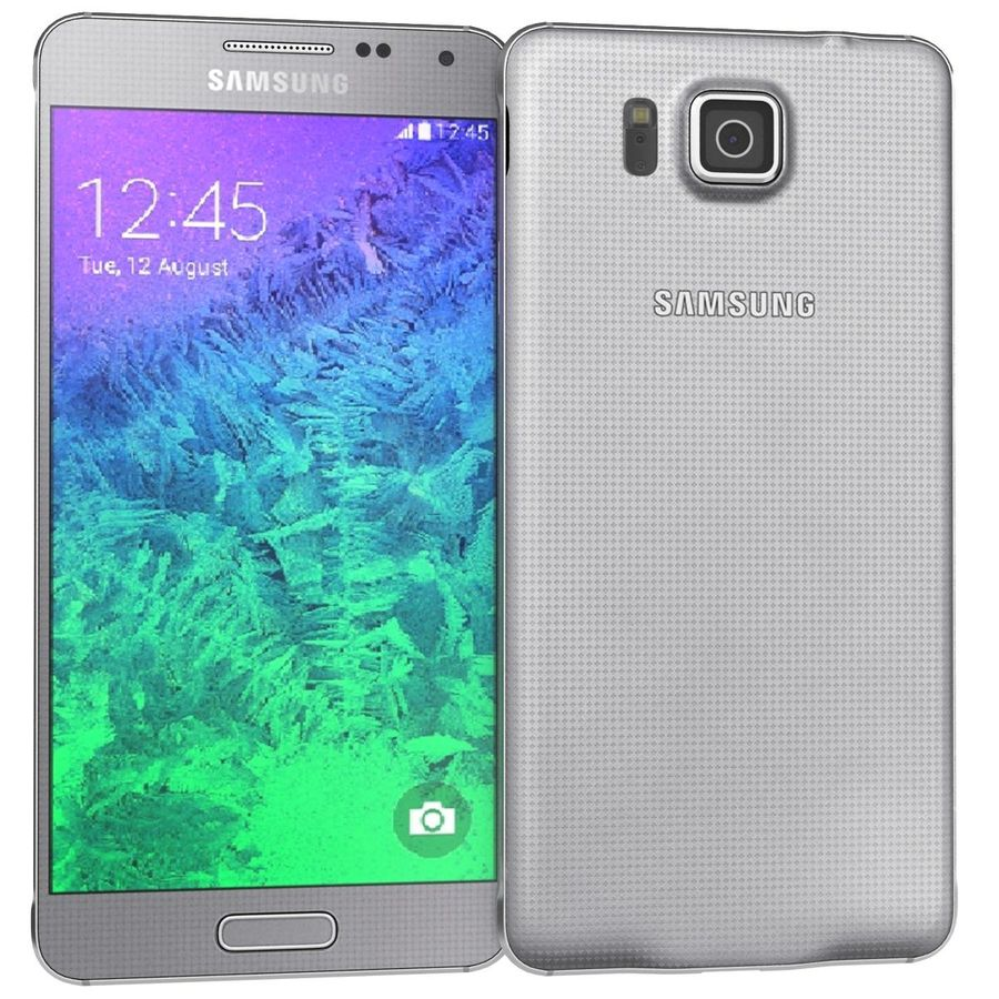 Samsung Galaxy Alpha elegante prata royalty-free 3d model - Preview no. 4