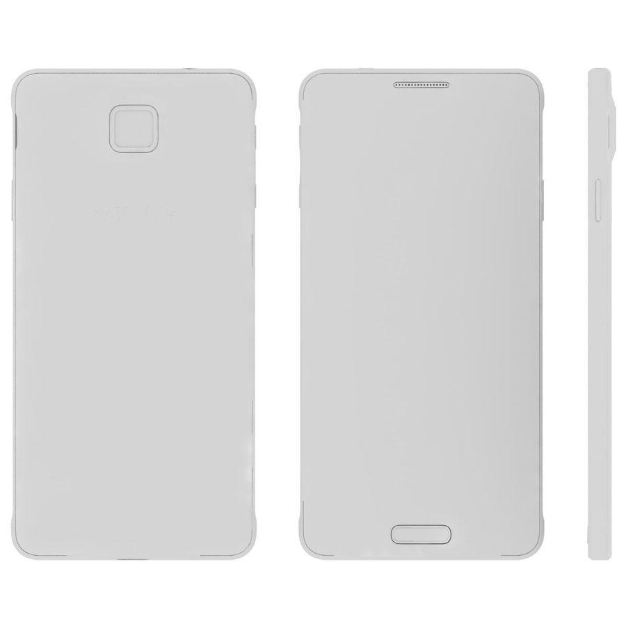 Samsung Galaxy Alpha elegante prata royalty-free 3d model - Preview no. 27