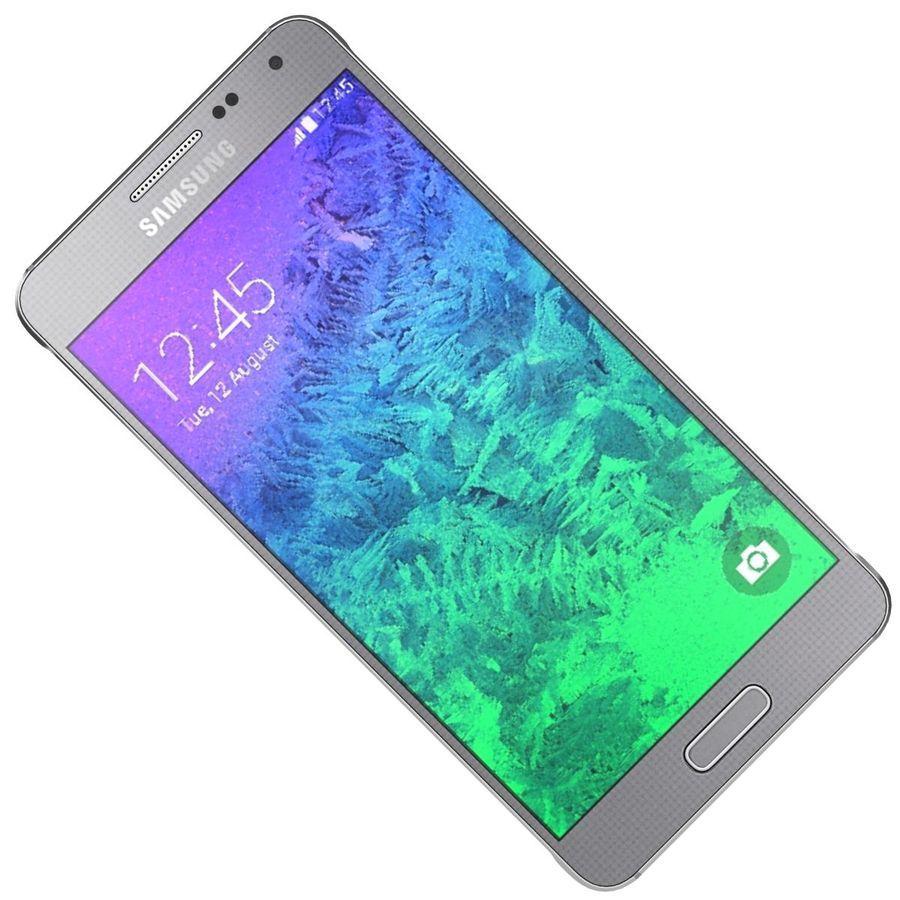 Samsung Galaxy Alpha elegante prata royalty-free 3d model - Preview no. 19