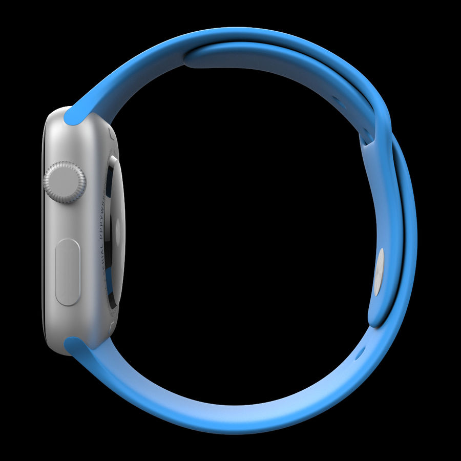 Apple Watch Sport royalty-free 3d model - Preview no. 11