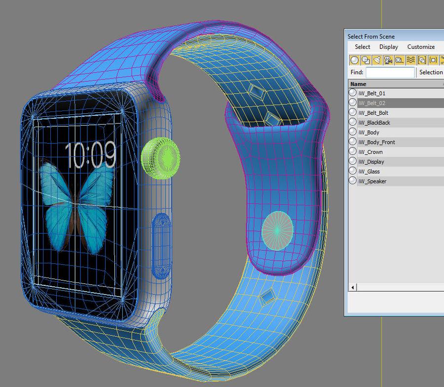 Apple Watch Sport royalty-free 3d model - Preview no. 15