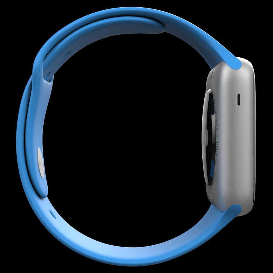 Apple Watch Sport royalty-free 3d model - Preview no. 13