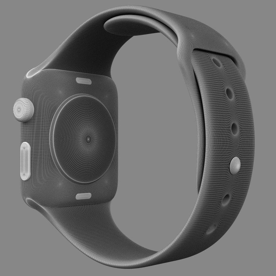 Apple Watch Sport royalty-free 3d model - Preview no. 7
