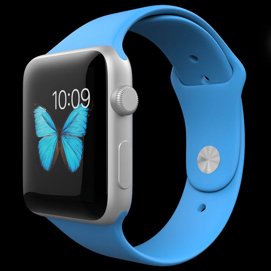 Apple Watch Sport royalty-free 3d model - Preview no. 2
