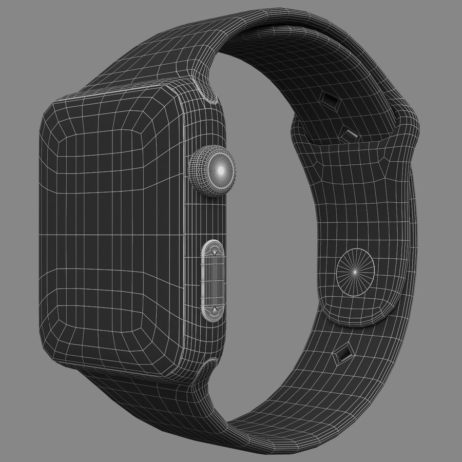 Apple Watch Sport royalty-free 3d model - Preview no. 3