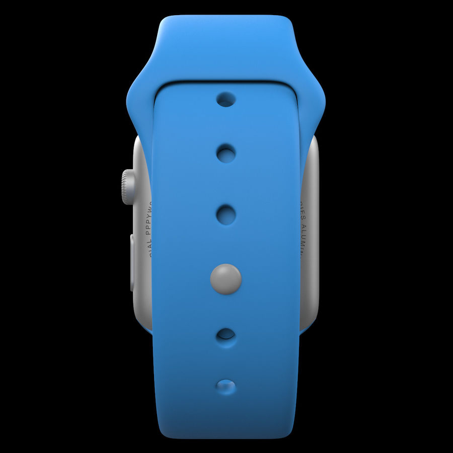Apple Watch Sport royalty-free 3d model - Preview no. 12