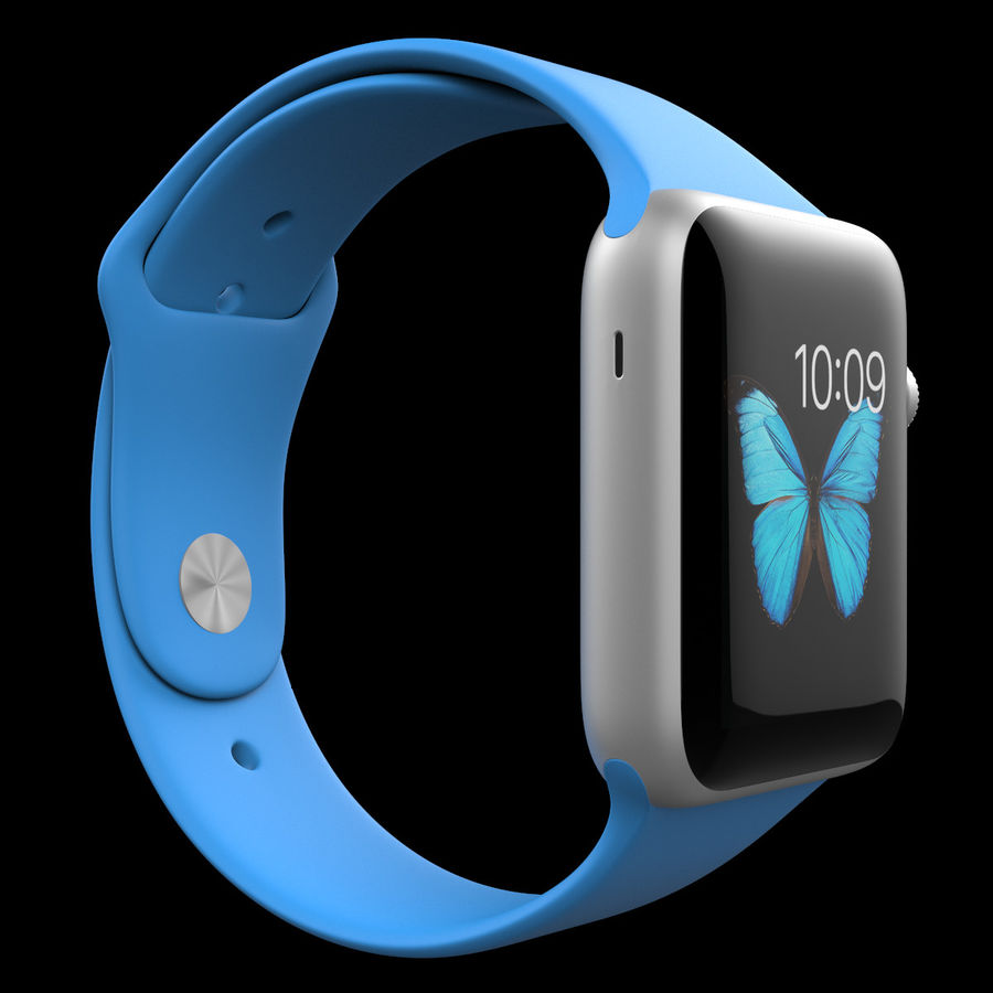 Apple Watch Sport royalty-free 3d model - Preview no. 8