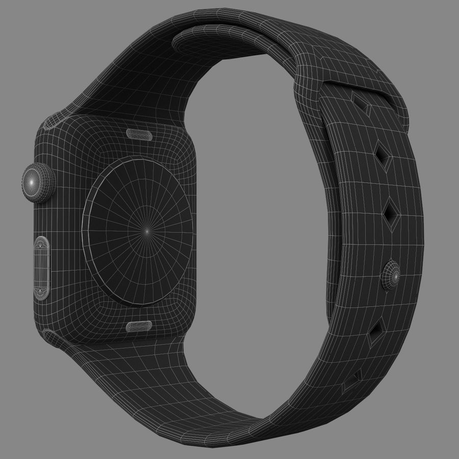 Apple Watch Sport royalty-free 3d model - Preview no. 6