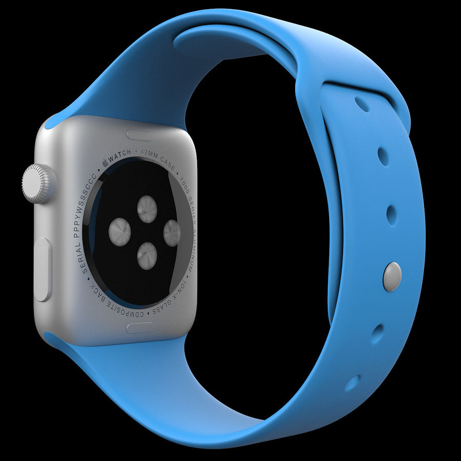 Apple Watch Sport royalty-free 3d model - Preview no. 5