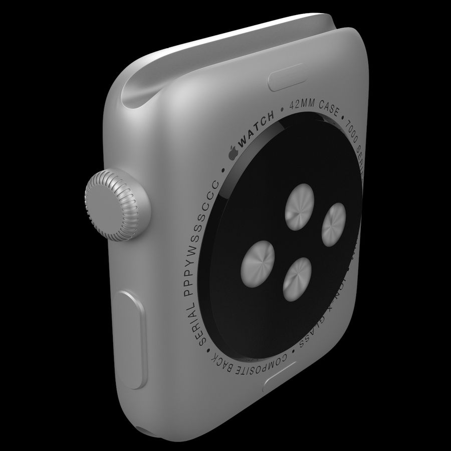 Apple Watch Sport royalty-free 3d model - Preview no. 14