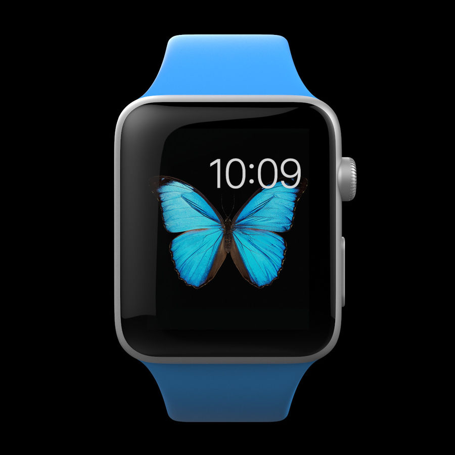 Apple Watch Sport royalty-free 3d model - Preview no. 10