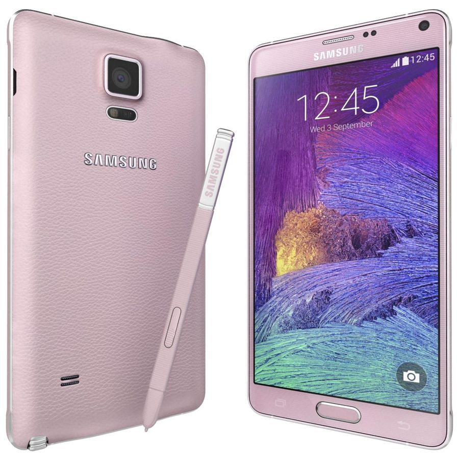 Samsung Galaxy Note 4 Blossom Pink royalty-free 3d model - Preview no. 4