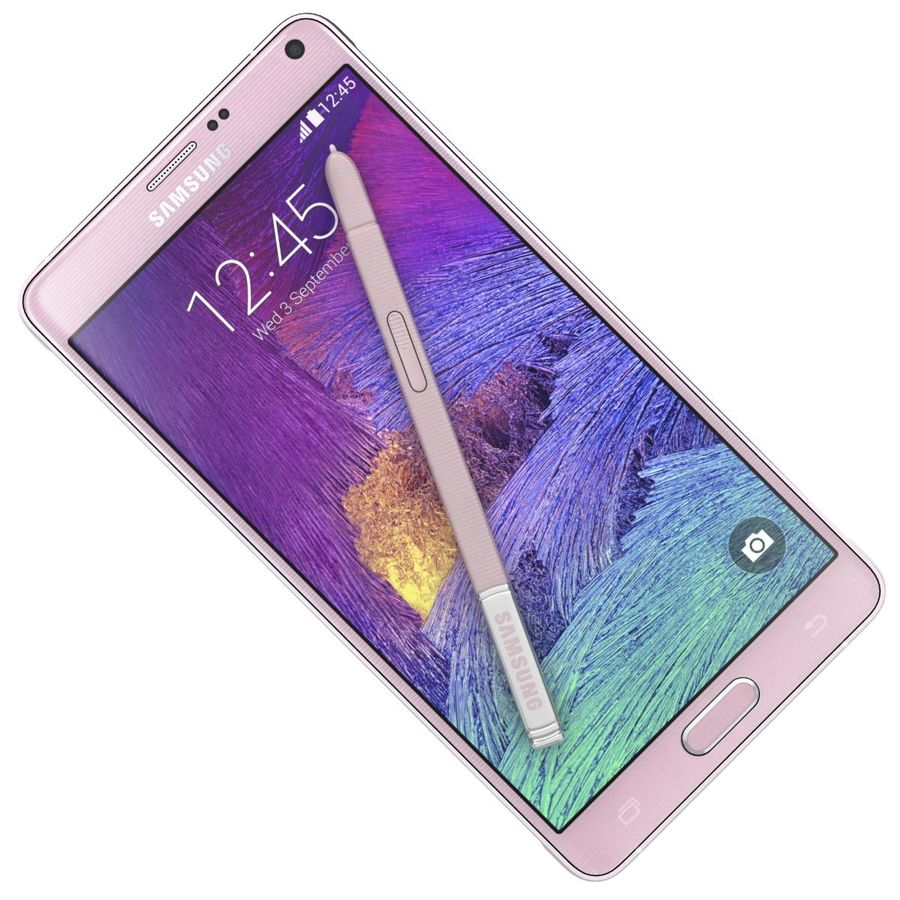 Samsung Galaxy Note 4 Blossom Pink royalty-free 3d model - Preview no. 18