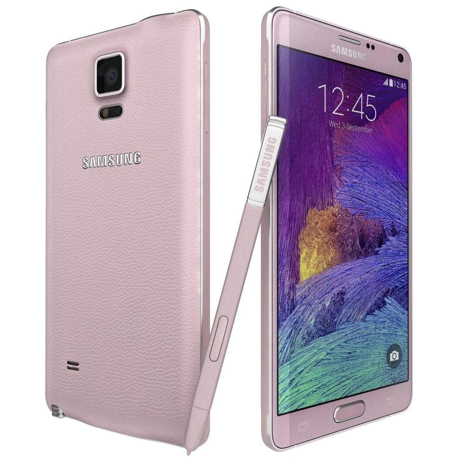 Samsung Galaxy Note 4 Blossom Pink royalty-free 3d model - Preview no. 5
