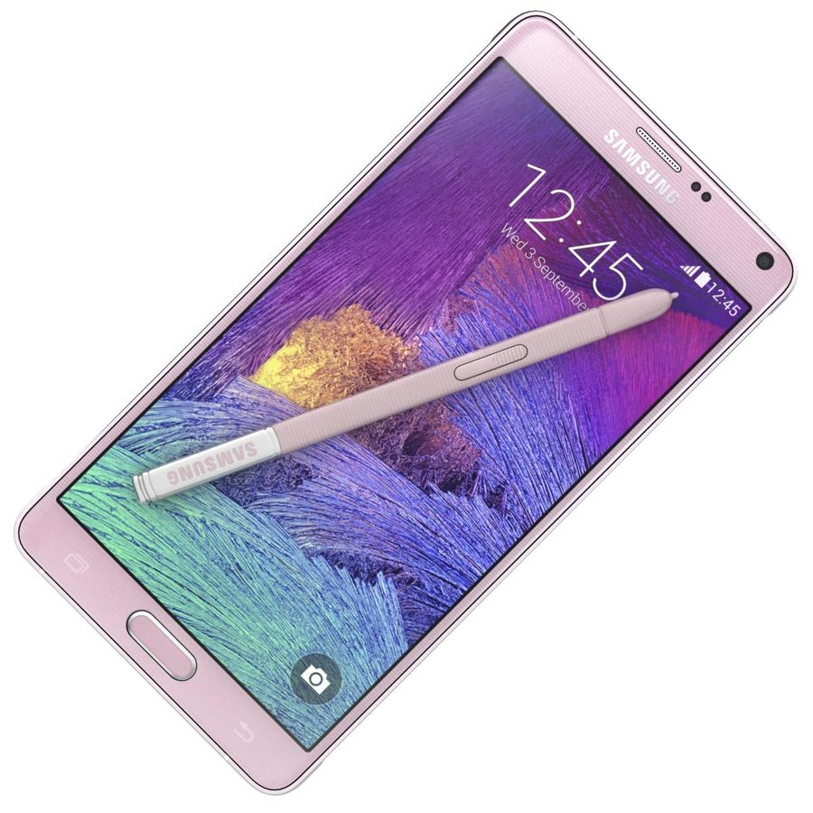 Samsung Galaxy Note 4 Blossom Pink royalty-free 3d model - Preview no. 15