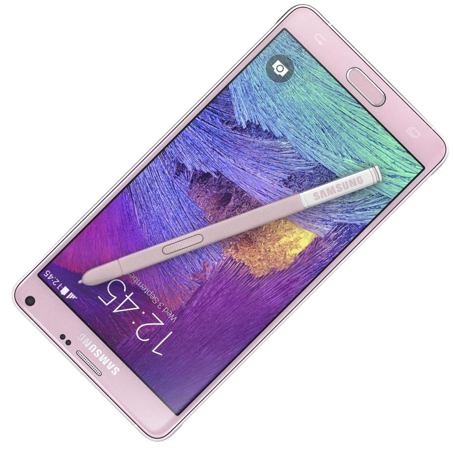 Samsung Galaxy Note 4 Blossom Pink royalty-free 3d model - Preview no. 17