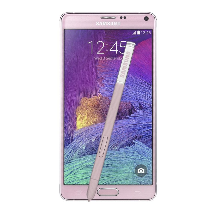 Samsung Galaxy Note 4 Blossom Pink royalty-free 3d model - Preview no. 6