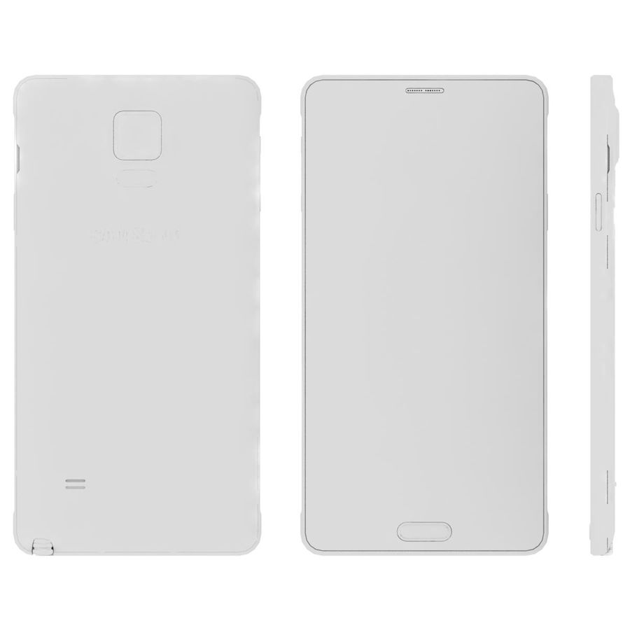 Samsung Galaxy Note 4 Blossom Pink royalty-free 3d model - Preview no. 27