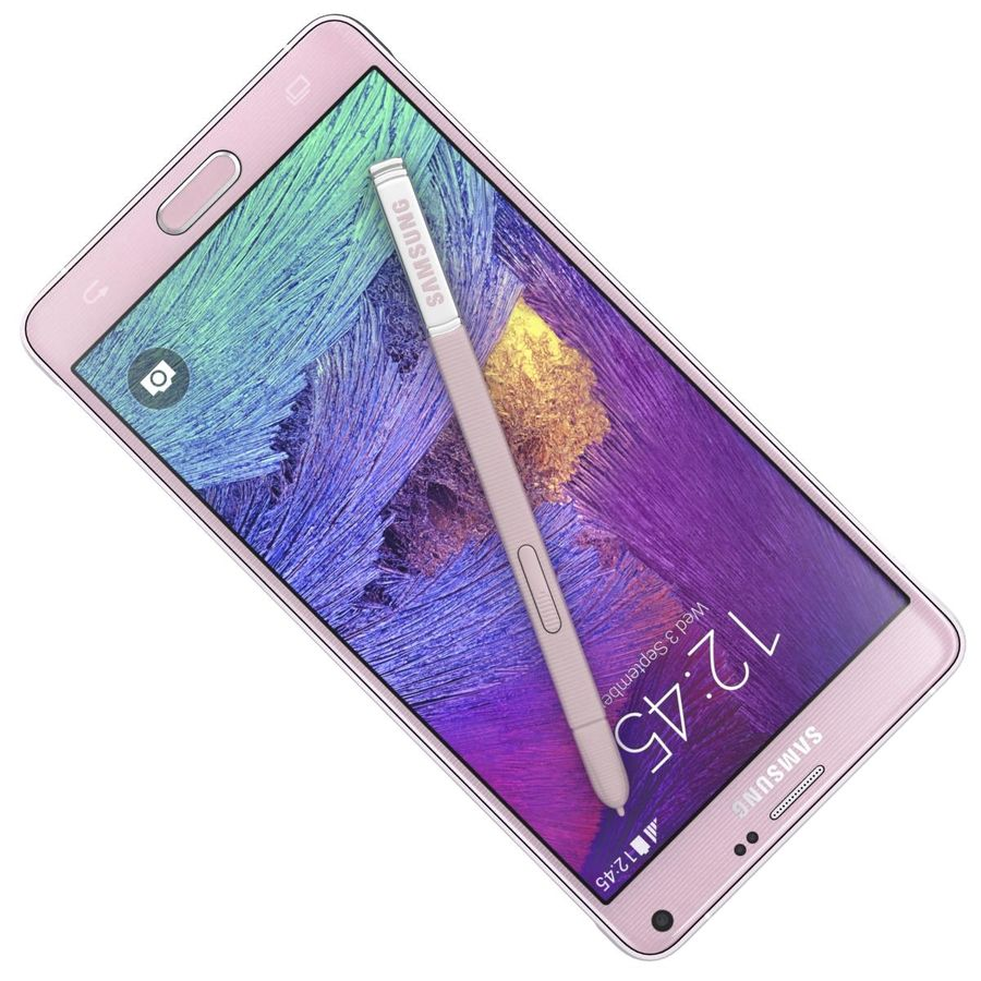 Samsung Galaxy Note 4 Blossom Pink royalty-free 3d model - Preview no. 16