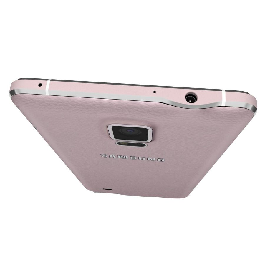 Samsung Galaxy Note 4 Blossom Pink royalty-free 3d model - Preview no. 12