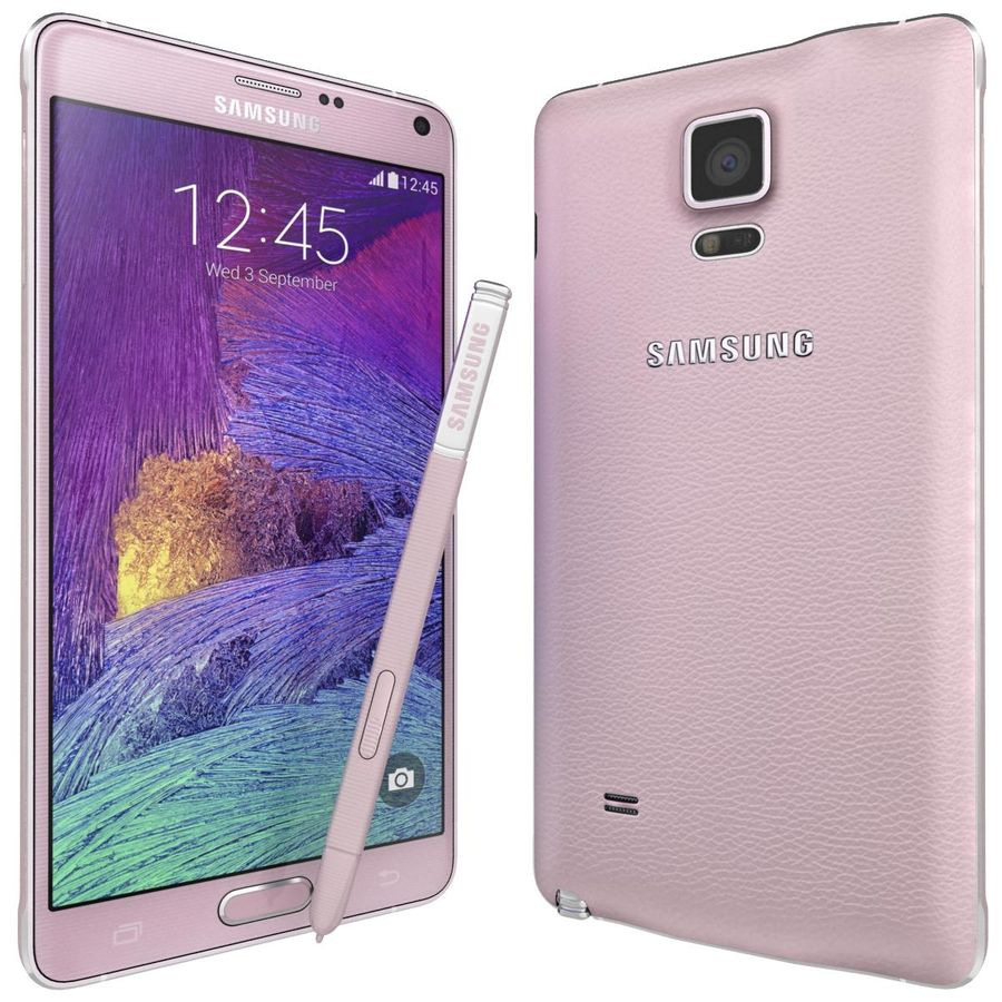 Samsung Galaxy Note 4 Blossom Pink royalty-free 3d model - Preview no. 3
