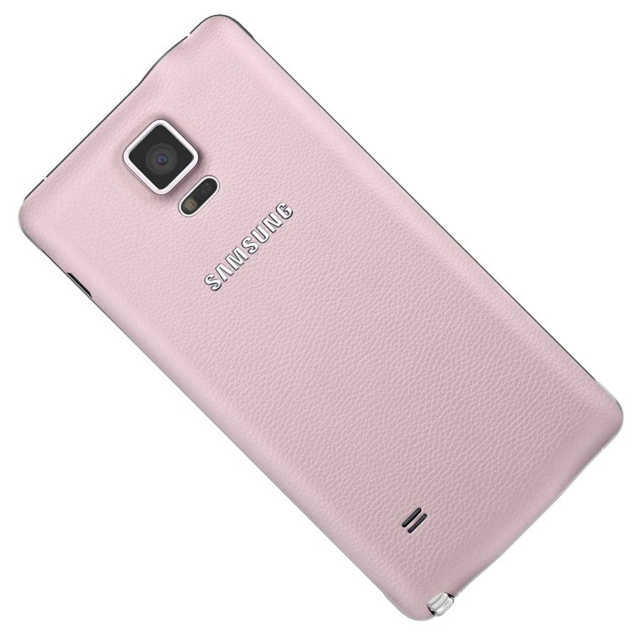 Samsung Galaxy Note 4 Blossom Pink royalty-free 3d model - Preview no. 22