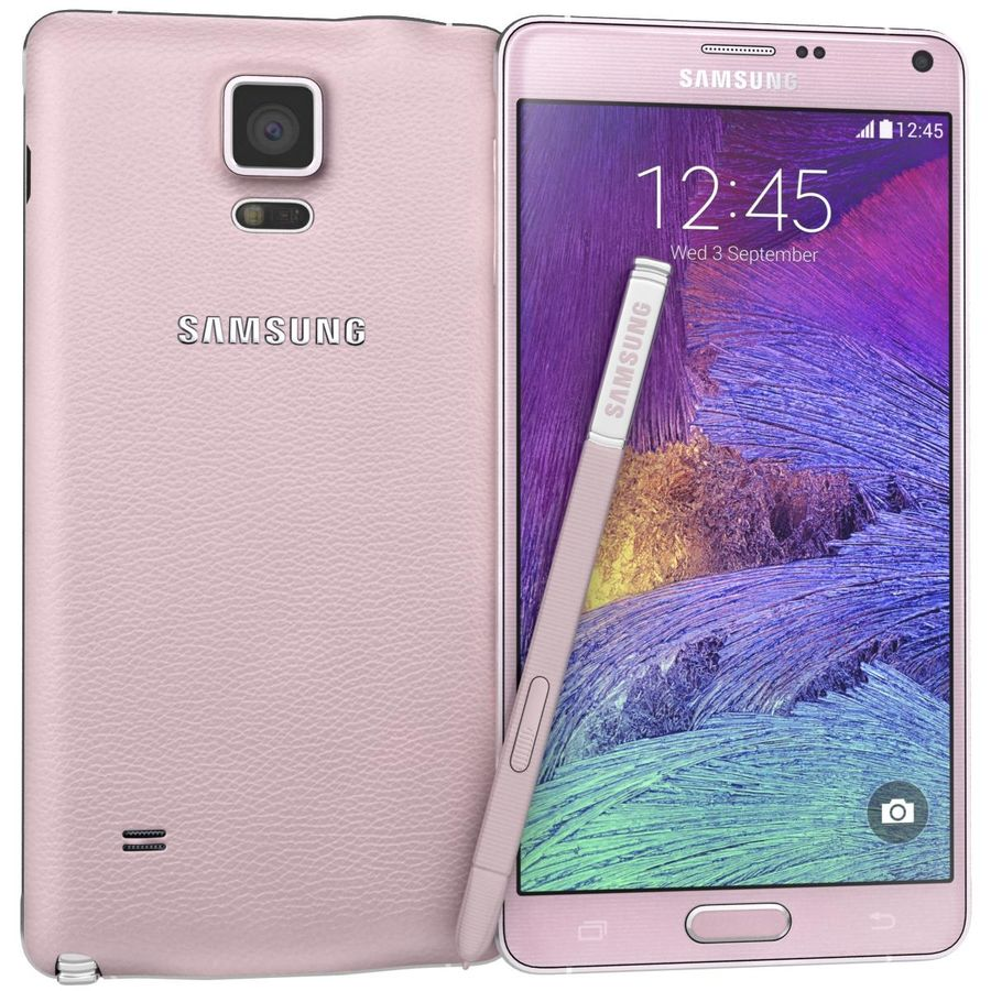 Samsung Galaxy Note 4 Blossom Pink royalty-free 3d model - Preview no. 1