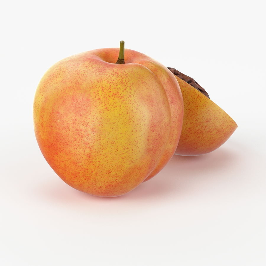 Realistic Peach royalty-free 3d model - Preview no. 3