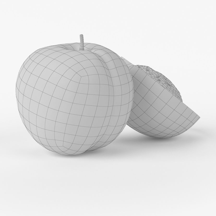 Realistic Peach royalty-free 3d model - Preview no. 9
