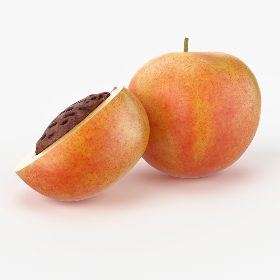 Realistic Peach royalty-free 3d model - Preview no. 5