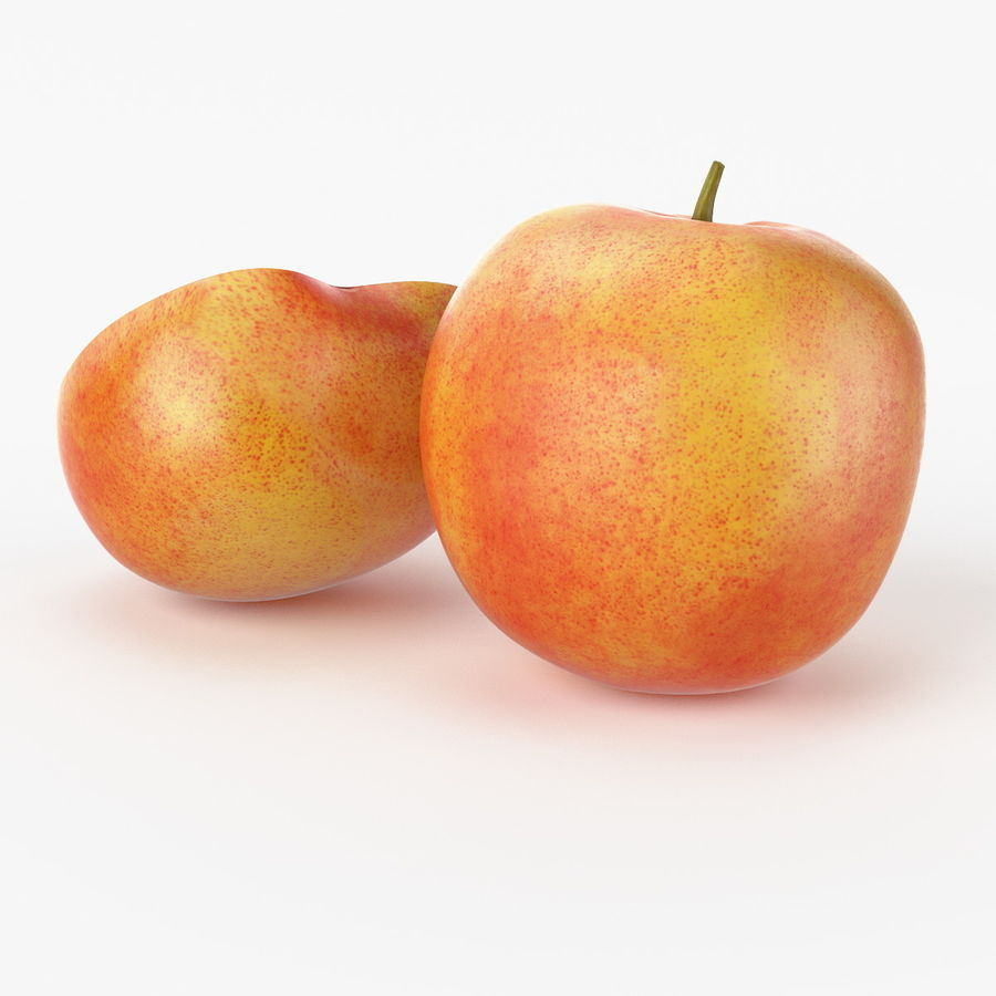 Realistic Peach royalty-free 3d model - Preview no. 4