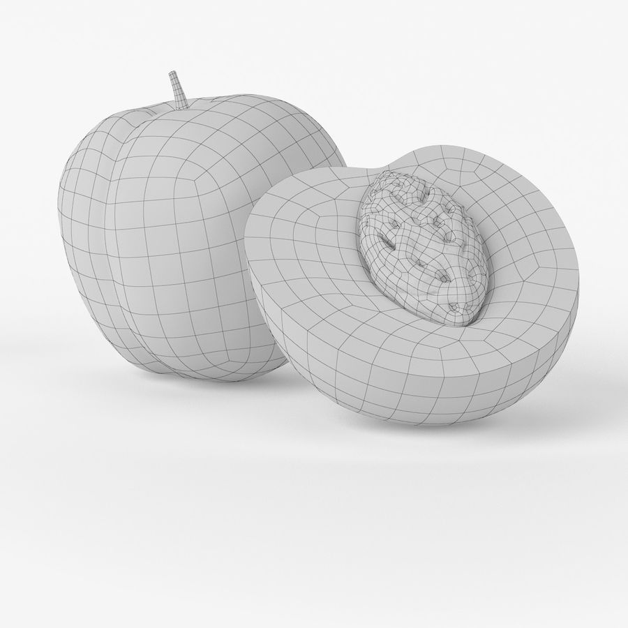Realistic Peach royalty-free 3d model - Preview no. 8