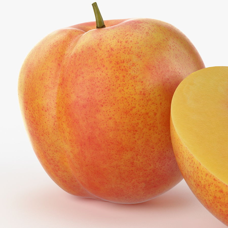 Realistic Peach royalty-free 3d model - Preview no. 7