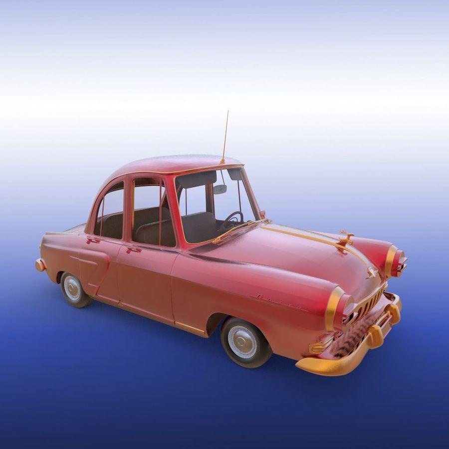 ретро автомобиль royalty-free 3d model - Preview no. 21