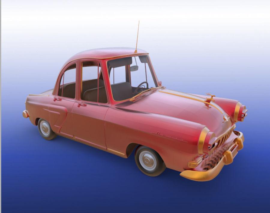 ретро автомобиль royalty-free 3d model - Preview no. 1