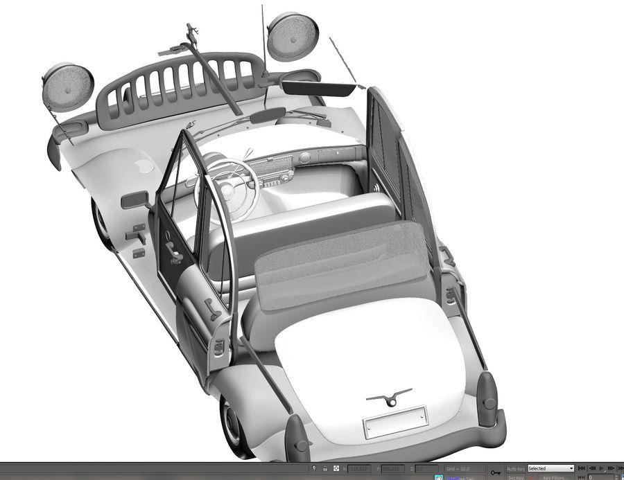 ретро автомобиль royalty-free 3d model - Preview no. 10