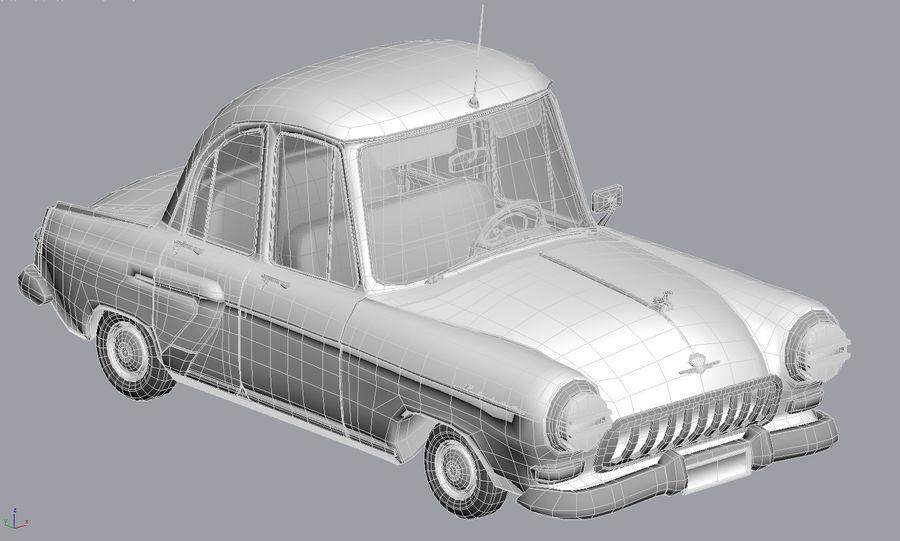 ретро автомобиль royalty-free 3d model - Preview no. 7